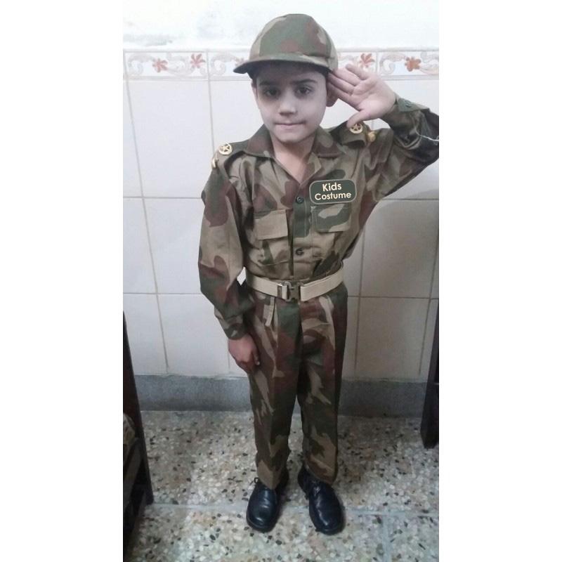 pak army commando kids uniform costume for boys