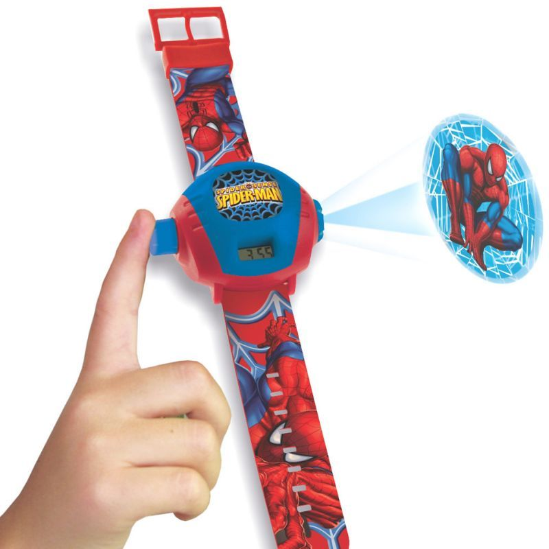 Spider man projector light watch for Spiderman watches