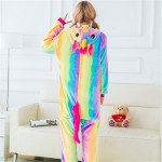 Rainbow Colorful Pegasus Stallion Horse Animal Jumpsuit Costume for Kids