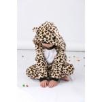 Leopard Bear Animal Jumpsuit Costume for Kids School Play