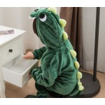 Green Dinosaur Animal Jumpsuit Costume for Kids School Play