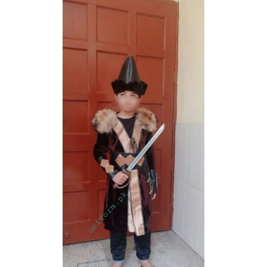 Brown Dirilis Ertugrul Gown For Kids Ertugrul Ghazi Full Dress