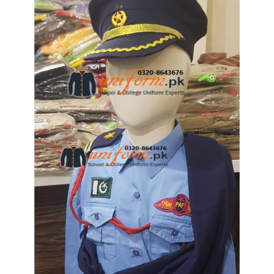 Pakistan Air Force Saree Costume For Kids Pakistan Air force PAF Female Uniform