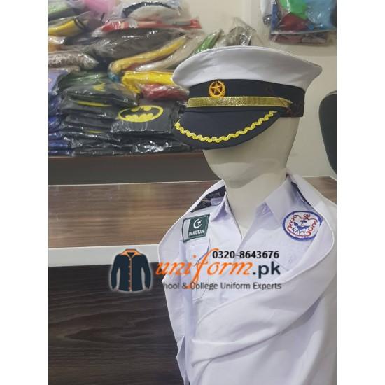 Pakistan Navy Saree Costume For Kids Female Uniform
