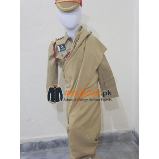 Pakistan Army Female Officer Uniform For Kids