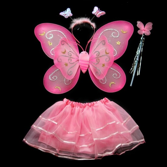 Princess Fairy Girl Butterfly Kids Costume for School Party