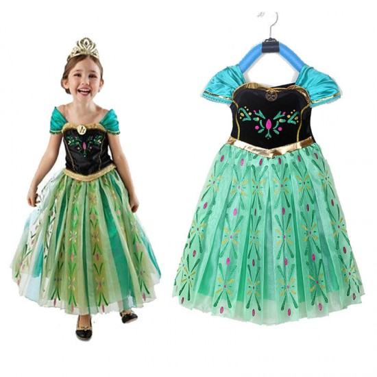Anna Frozen Costume Girls Dress For School