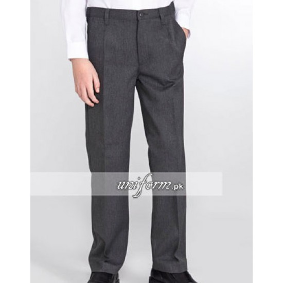 Boys Grey School Dress Pants