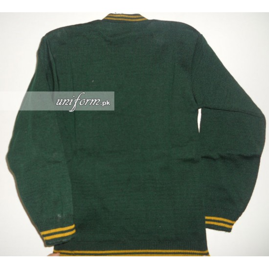 Green Full Sleeves Sweater for School