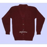 Girls Maroon Cardigan for School