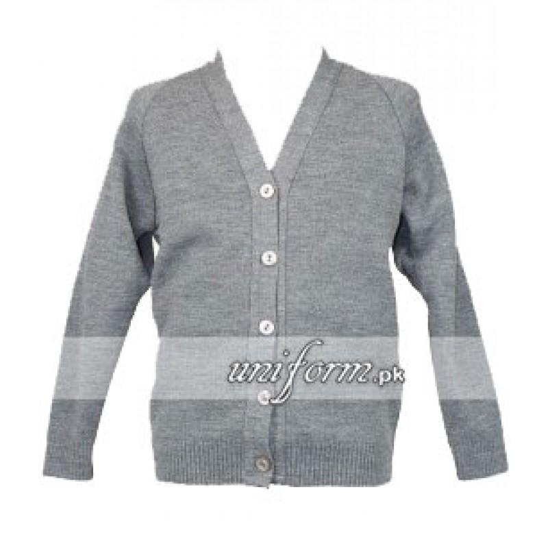 dea4cd4d83d buy Grey Girls Cardigan for School - Sweaters