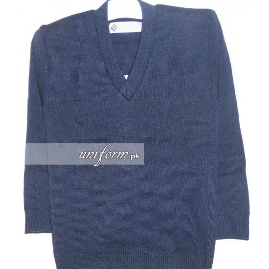Boys Blue Full Sleeve Pullover for School